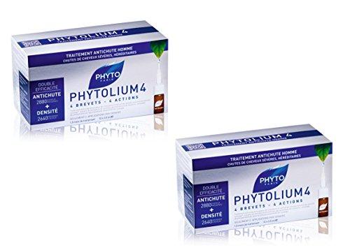 DUO PHYTOLIUM 4 Konzentrat gegen Ausfall, für Herren, 12 Ampullen à 3,5 ml, 4 Wirkungen