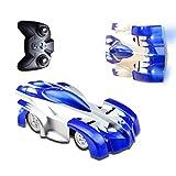 TopSun Remote Control Car, Wall Climber Automobili RC veloci con luci a LED Giocattoli per Auto Anti-gravità acrobazie Ricaricabili Adatto per Adulti, Bambini (Blu)