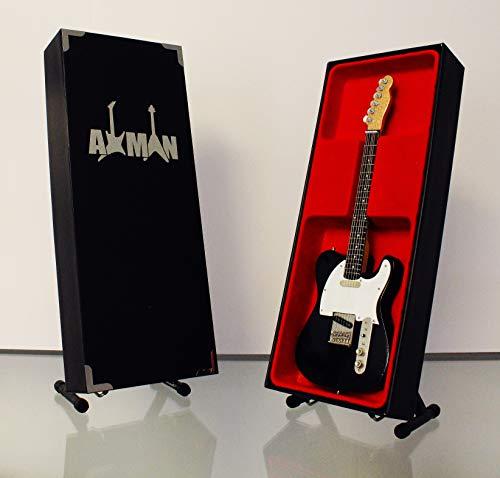 Axman Telecaster Miniatur-Nachbildung für Gitarre, Schwarz