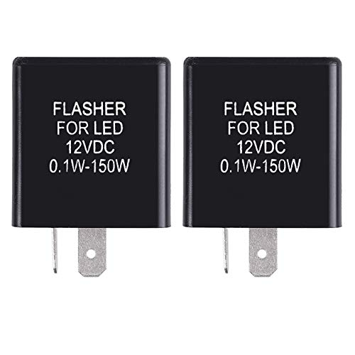 MGI SpeedWare 2-Pin Silent Flasher Relay for LED Turn Signal - Hyper Flash Fix (2-Pack)