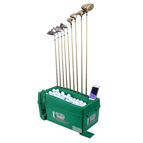 CRESTGOLF Dispensador de pelotas de golf organizador de palos de golf por PGM, no requiere electricidad, medio automático