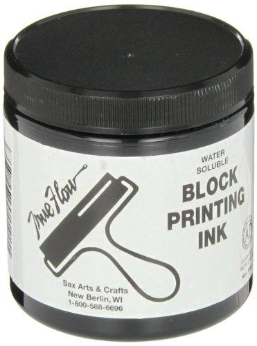 Sax True Flow Water Soluble Block Printing Ink, 8 Ounce Jar, Black - 461924
