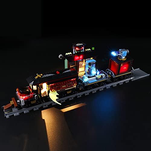ADMLZQQ Conjunto De Luces para (Hidden Side Expreso Fantasma) Modelo De Construcción De Bloques - Kit De Luz LED Compatible para Lego 70424, NO Incluido En El Modelo