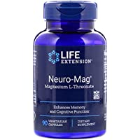 Life Extension Neuro-Mag Magnesium L-Threonate, 90 Vegetarian Capsules