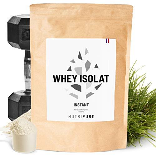Whey Isolat Native Instant 94% • Sans lactose • 24% BCAA & 52% EAA • Lait frais de paturages français • 94% Protéines non dénaturées • Goût neutre • 6 Arômes naturels • Made in France • NUTRIPURE