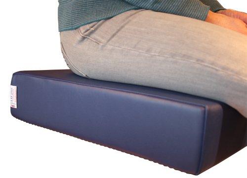 LUplus XL Orthopädische Sitzerhöhung 43x43x Höhe 10 cm Skai, DKL-blau