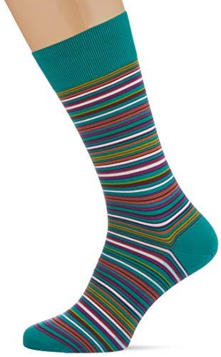 FALKE Herren Socken Microblock, Baumwolle, 1 Paar, Grün (Emerald 7205), 41-42 (UK 7-8 Ι US 8-9)