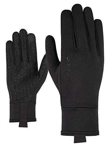 Ziener Isanto Touch Glove - Guanti Sportivi per attività all'Aria Aperta, Unisex, 802044, Nero, 8.5