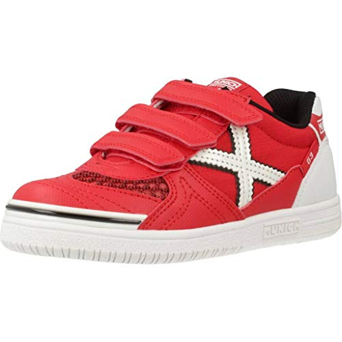 Munich G 3 KID VCO INDOOR 68, Zapatillas Niño, Rojo, 29 EU