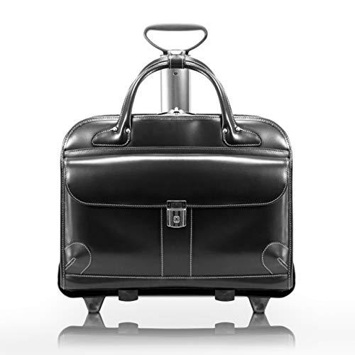 McKleinUSA Checkpoint-Friendly Women's Laptop Briefcase, Leather, Mid-Size, Black - Lakewood | McKlein - 96615, 18 l x 8 75 w x 14 5 h