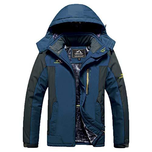 MAGCOMSEN Rain Jacket Men Winter Coats for Men Waterproof Jacket Warm Jacket Work Jacket Coat Outwear Hiking Jacket Hooded Ski Jacket Men Hooded