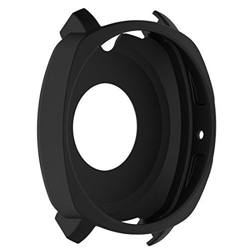 LOKEKE Samsung Gear Sport (SM-R600) - Carcasa protectora de silicona para Samsung Gear Sport (SM-R600), color negro