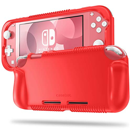 Fintie Case for Nintendo Switch Lite 2019 - Soft Silicone [Shock Proof] [Anti-Slip] Protective Cover with Ergonomic Grip Design for Switch Lite Console (Red)