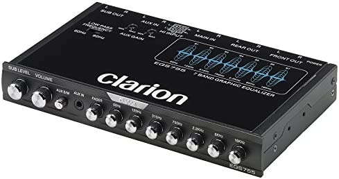 Amazon Com Clarion Eqs755 7 Band Car Audio Graphic Equalizer With Front 3 5mm Auxiliary Input Rear Rca Auxiliary Input And High Level Speaker Inputs Car Electronics