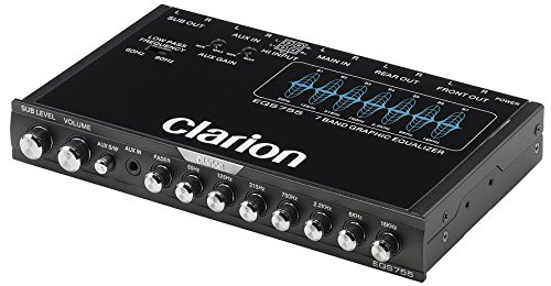Clarion EQS755 7-Band Car Audio Graphic Equalizer with Front 3.5mm Auxiliary Input, Rear RCA Auxiliary Input and High Level Speaker Inputs by AnchorElectronics. Compare B00S7G1TW2 related items.