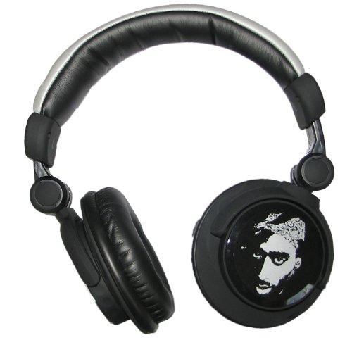 Price Point Accessories LLCRBH5253 Tupac Shakur Super Bass DJ Headphones - Black/Gold 1