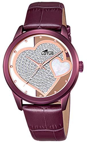 Lotus Reloj Mujer de Cuarzo analógico con Correa en Cuero Genuino 18305/E