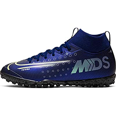 Nike Kids SuperFly 7 Academy MDS TF (3, Blue Void/Barely Volt/White)