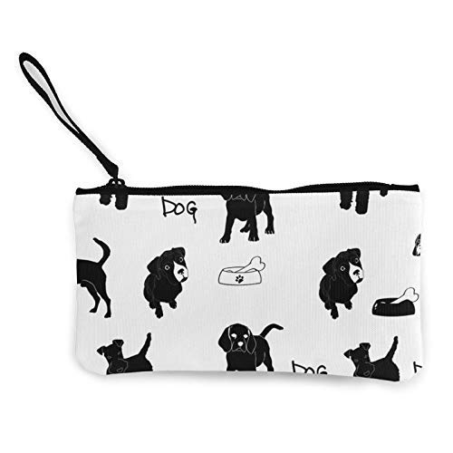XCNGG Dog Fashion Coin Purse Bag Canvas Small Change Pouch Multi-Functional Cellphone Bag Wallet Cosmetic Makeup Bag