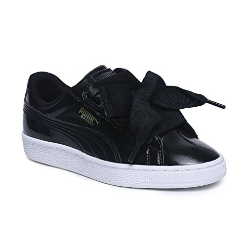 Puma Basket Heart Glam Jr, Zapatillas Unisex Niños, Negro Black, 39 EU