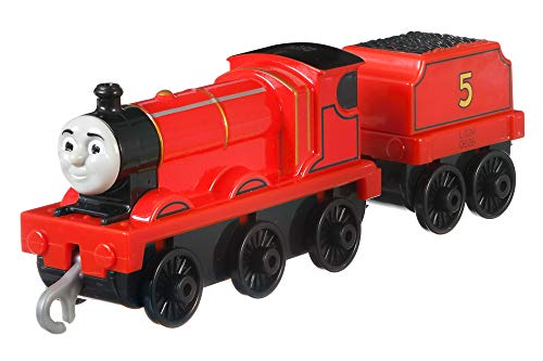 Thomas & Friends FXX21 Trackmaster Push Along James, Metall-Lokomotive, Zugmotoren-Sortiment, Mehrfarbig