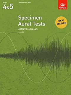 Abrsm specimen aural tests - grades 4-5 (2011+) book only: new edition from 2011