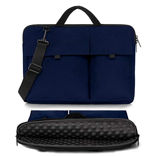 Dotop 15 15.6 inch Laptop Shoulder Bag Case 360° Protective Sleeve Carrying Case for 15.6-inch New MacBook Pro Microsoft Surface Book 2 Dell XPS 15 Ultrabooks Chromebooks Notebooks