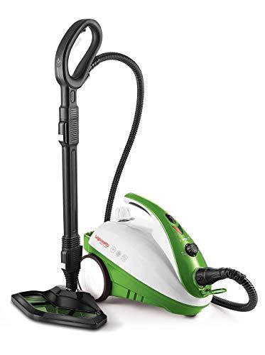 Polti Vaporetto Smart 35 Mop Limpiador a Vapor con Cepillo Vaporforce, Caldera de Alta Presion de 3.5 Bar, 1800 W, 1.6 litros, plastico, Acero Inoxidable, Verde