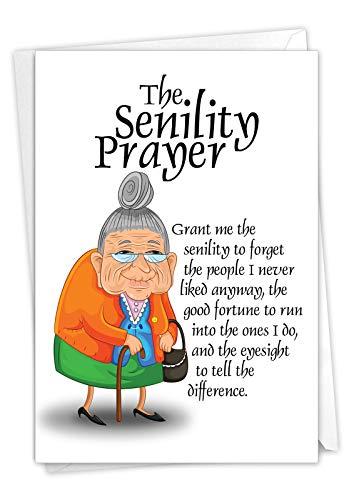 The Senility Prayer Birthday Card for Seniors