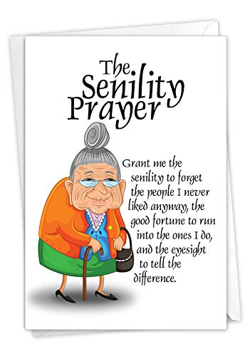 The Senility Prayer Birthday Card for Seniors