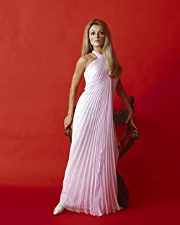 Sharon Tate Stunning Glamour Portrait red backdrop 16x20 Poster