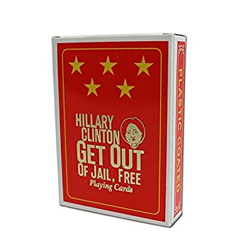 Gears Out Hillary Clinton Playing Cards – Hillary Clinton Get Out of Jail Free Cards - Five Star Plastic Coated Playing Cards – Hillary Clinton Gag Gifts – Funny Political Gag Gifts