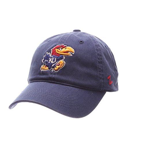 NCAA Zephyr Kansas Jayhawks Mens Scholarship Relaxed Hat, Adjustable, Team Color