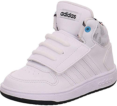 adidas Jungen Hoops Mid 2.0 I Leichtathletik-Schuh, FTWR White/FTWR White/Legend Ink, 27 EU
