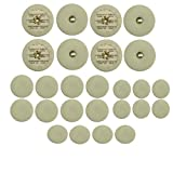 Instrument Clinic White Leather Bass Clarinet Pads, Please Email Your Pad Diameters