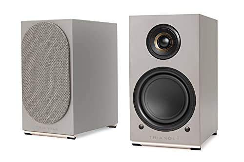 TRIANGLE AIO Twin Bluetooth-Lautsprecher, WLAN, Multiroom (aire) (grau)