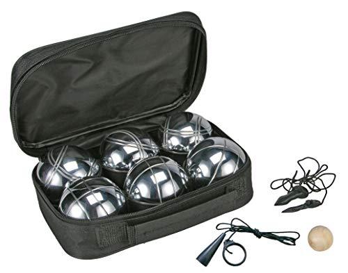 Spetebo Boule Set mit Tragetasche - 6 Metall Kugeln - Boccia Petanque Garten Spiel Wurfspiel