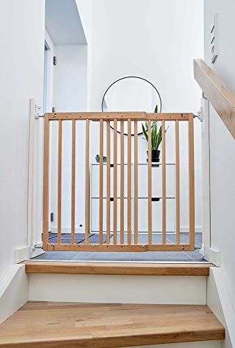 BabyDan Odenses, ausziehbares Sicherheits- und Treppenschutzgitter aus Buchenholz