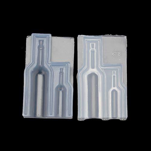 ZJL220 - Botella de cristal de vino 3D de resina moldeada