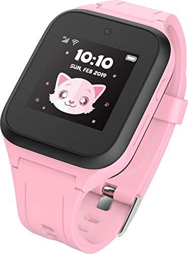 TCL Kinder Smartwatch 'MT40X' MOVETIME mit Nano SIM-Karte, GPS, Kamera und Notruftaste, Pink inkl. Vodafone SIM-Karte und 40€ Cashback