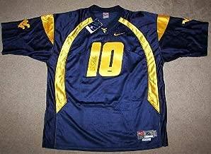 Steve Slaton Signed West Virginia Mountaineers #10 Nike Jersey Autographed Memorabilia - Authentic Signature