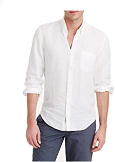 ZE-BAC Linen Formal and Casual Solid Regular fit Shirt for Men White,Full Sleeves Shirt,White Shirt,Sizes (Size:38(M),Size:40(L),Size:42(XL),Size:44(XXL)