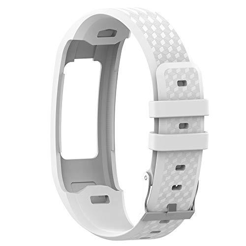 Uhrenarmbänder für Garmin Vivofit 1 Vivofit 2 Armband, Silikon Atmungsaktiv Replacement Uhrenarmband Sportarmband Band Erstatzband mit Schließe Bands Armband Band (Weiß)