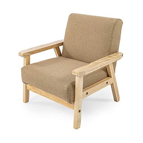 Massief houten sofa mini schattige cartoon kinderen kleuterschool baby sofa stoel afzonderlijke kleine sofa afneembaar en wasbaar mini sofa Bean Sand Green
