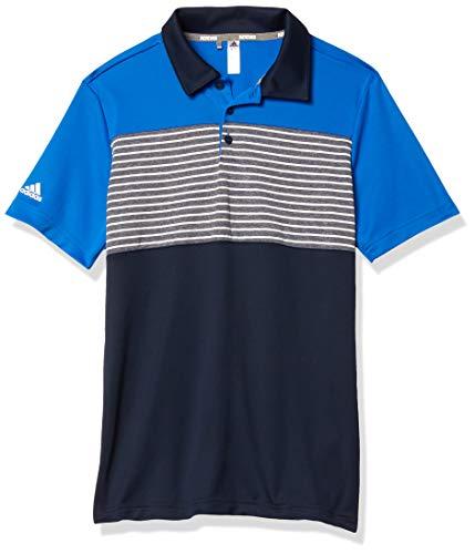 adidas Polo de Rayas para niño, Niños, Polo, TB1233S20, Azul Glory, XL