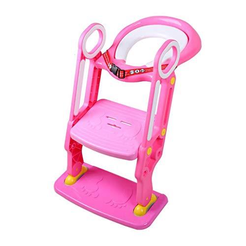 Siège de formation pour pot pliable, siège de cuvette de toilette pour bébé réglable, escabeau solide anti-dérapant, poignée confortable facile à assembler avec ceinture de sécurité