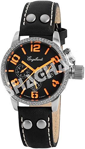 Engelhardt Damen Analog Mechanik Uhr mit Leder Armband 387722219012