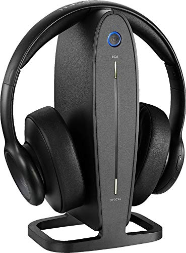 Insignia - NS-HAWHP2 RF Wireless Over-The-Ear Headphones - Black