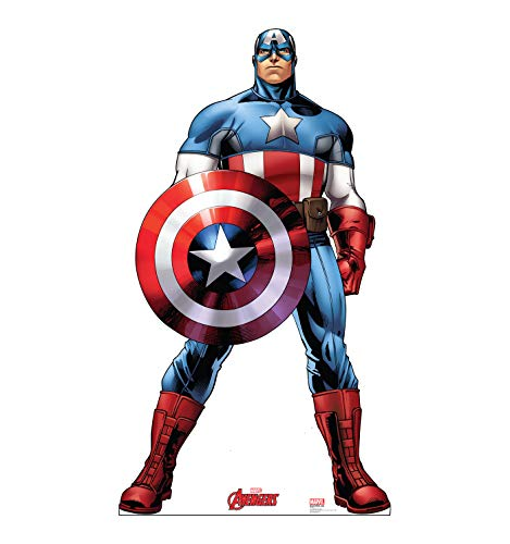 Advanced Graphics Captain America Life Size Cardboard Cutout Standup - Marvels Avengers Animated