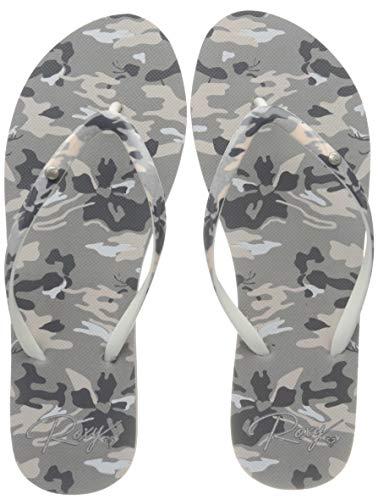 Roxy Portofino, Zapatos de Playa y Piscina para Mujer, Gris (Camo CMO),...